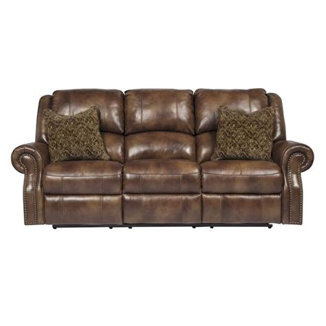 furniture leather reclining sofa furniture walworth leather reclining sofa in auburn