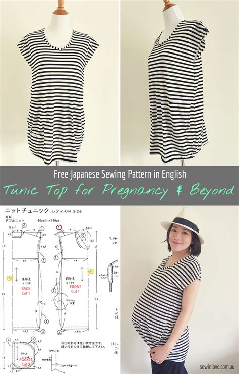 pattern pregnancy clothes diy striped tunic top for pregnancy and beyond free