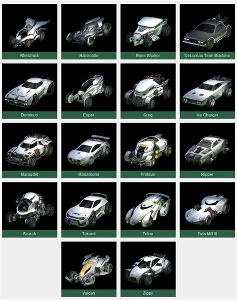 Car Types In Rocket League by Rocket League Cars Guide All Rocket League Cars Stats