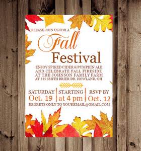 items similar to printable custom fall festival or party