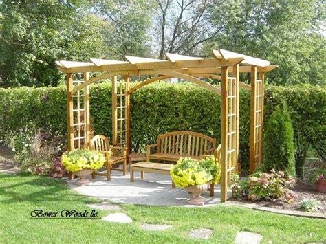 gazebo bench designs for the home garden