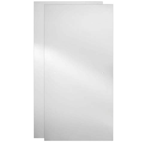 Glass Door Cl Delta 60 In Sliding Shower Door Glass Panels In Clear 1 Pair Sdgs060 Cl R The Home Depot