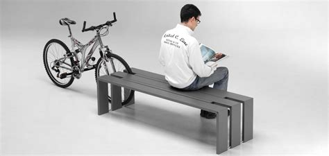 bench bike toso bicycle rack and seating system id metalco inc