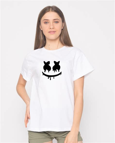 marshmello in india buy marshmello mask printed half sleeve boyfriend t shirt
