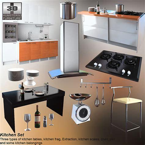3d model kitchen set kitchen set 4 3d model hum3d