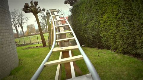 diy backyard roller coaster backyard pvc rollercoaster 2015 diy project youtube