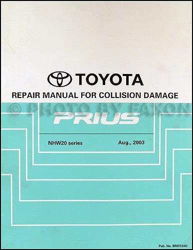auto repair manual online 2008 toyota prius windshield wipe control 2004 2008 toyota prius body collision repair shop manual original