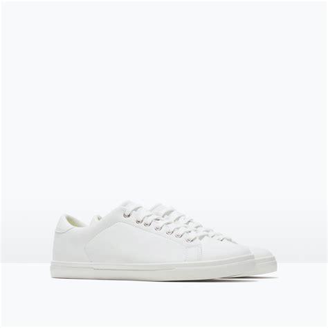 zara monochrome sneakers monochrome sneakers in white for