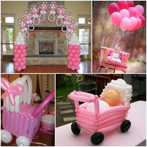 baby shower ni 209 o todo para decorar la m 225 s divertida decoracion para baby shower de ni 241 a con globos baby shower themes