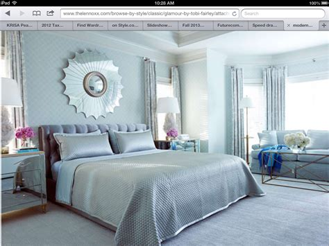 blue bedroom decor modern chic light blue silver bedroom design sun mirror