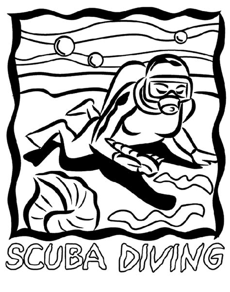 crayola coloring pages sports scuba diving coloring page crayola com clipart best
