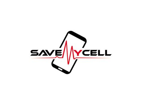 design logo on phone logo for cell phone repair by savemycell