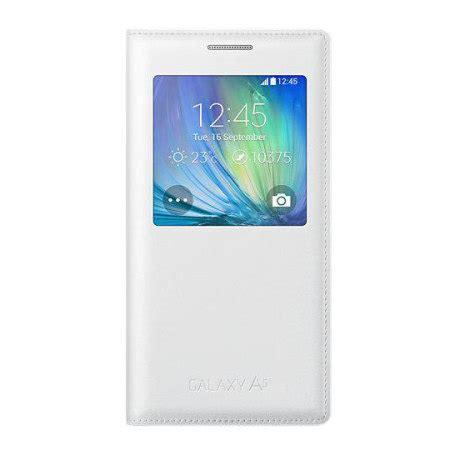 Flip Cover S View Samsung Galaxy A5 2015 A500 Auto Lock F Muur 2 official samsung galaxy a5 2015 s view cover white