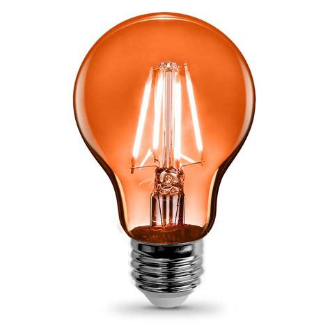 orange lights home depot feit electric 3 6 watt orange a19 filament led light bulb