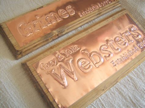 Buy a Hand Made Traditional Copper Sign 7 Year Anniversary