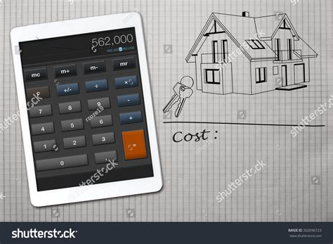 home building cost calculator home construction cost calculator stock photo 202696723