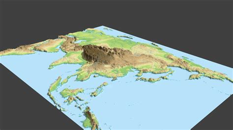 3d map map of asia 3d my