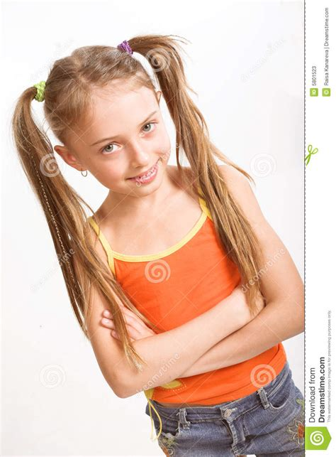 little girls little girl in casual dress stock image image 5801523