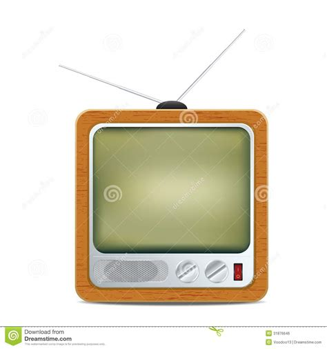 sq stock royalty free stock image square retro tv icon image