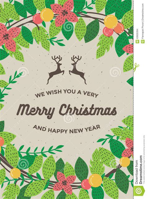 merry and happy new year card template merry and happy new year card for poster