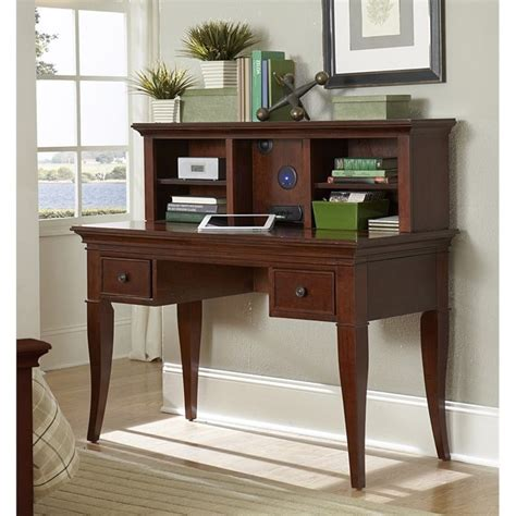 Kid Desk With Hutch Ne Walnut Writing Desk With Hutch In Chestnut 9540ndh