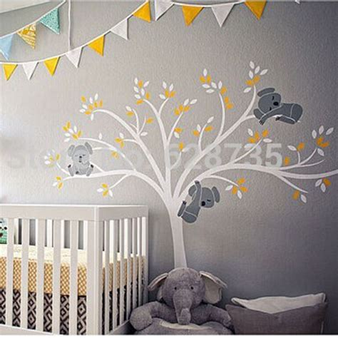 large nursery wall stickers free shipping oversized large koala tree wall decals for baby nursery baby nursery vinyl wall