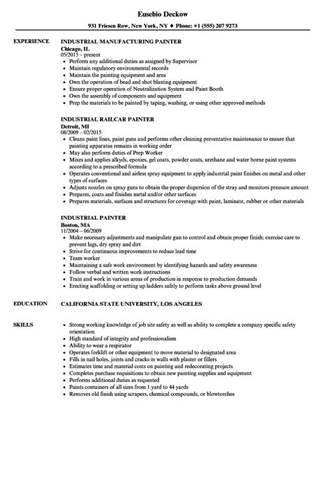 painter resume template painter resume pool attendant
