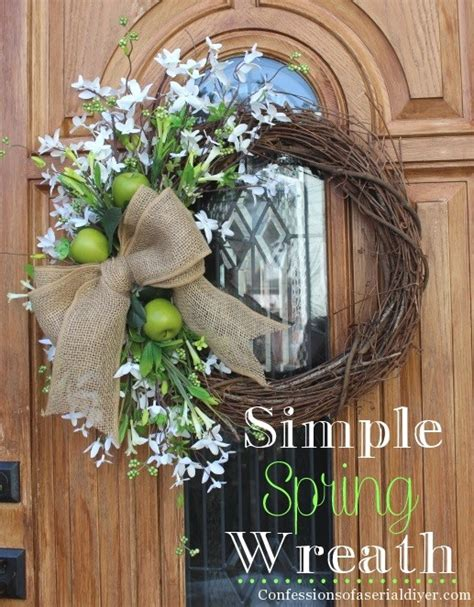 how to make a spring wreath for front door simple spring wreath confessions of a serial do it