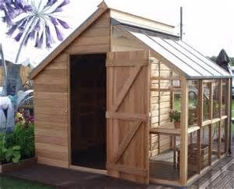 Half Shed Half Greenhouse by Half Garden Shed And Half Greenhouse Diy Yard And