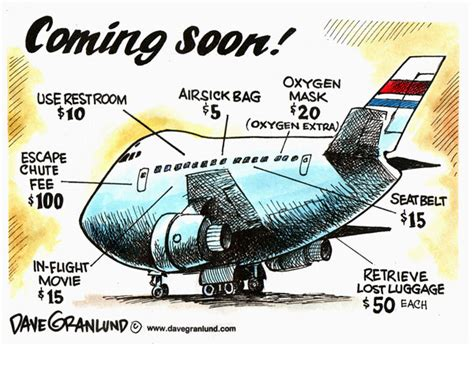 United Luggage Fee by Dave Granlund Editorial Cartoons And Illustrations