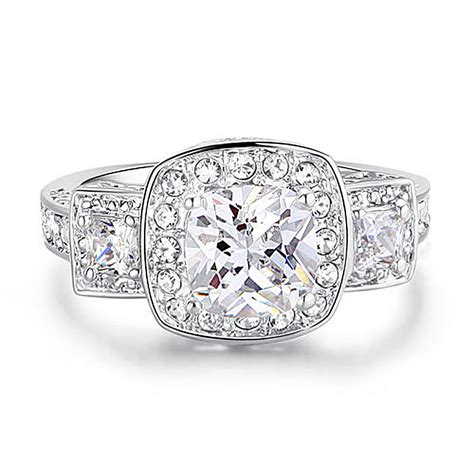 wholesale free shipping 1 carat sparkling princess cut