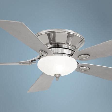 36 hugger ceiling fan 52 quot minka delano ii polished nickel hugger ceiling fan