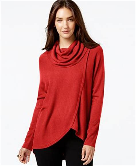 draped cowl neck sweater ny collection draped cowl neck sweater sweaters women