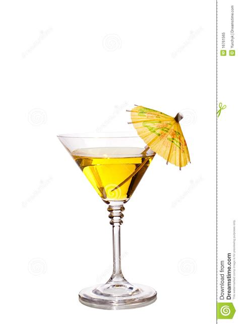 martini glass with umbrella cocktail with umbrella royalty free stock photo image