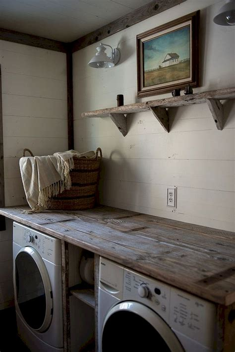 40 Rustic Farmhouse Laundry Room Decor Ideas Livinking Com Laundry Room Decor