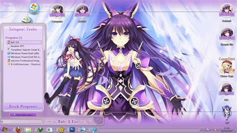 download theme windows 7 yatogami tohka theme win 7 date a live v17 yatogami tohka themes