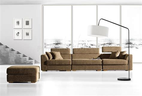 contemporary modular sofa brown fabric modern modular sectional sofa