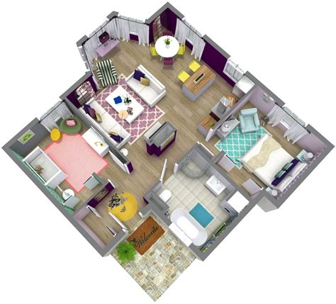 3 Bedroom Apartment Floor Plans by House Plans Roomsketcher