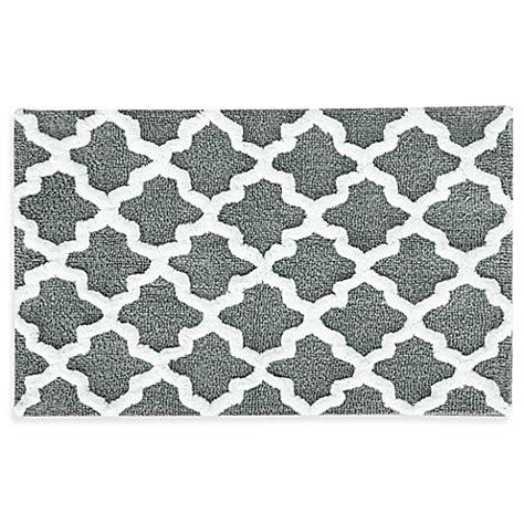 black and gray bathroom rugs 21 inch x 34 inch quatrefoil bath rug bed bath beyond