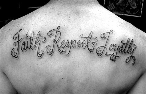 loyalty and respect tattoos respect tattoos for ideas and inspiration for guys