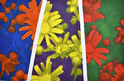 colors painting flowers in complementary colors