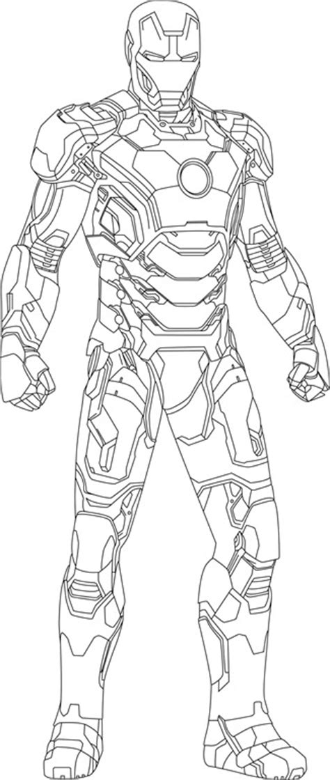 iron man mark 42 drawings outline sketch coloring page