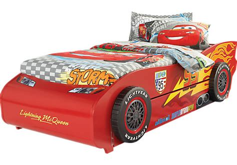 queen size race car bed disney cars lightning mcqueen red 5 pc twin bed w trundle