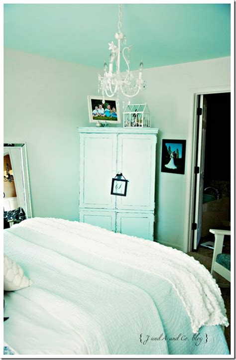 house tour white and pale tiffany blue makes a charming j a and co house tour our room
