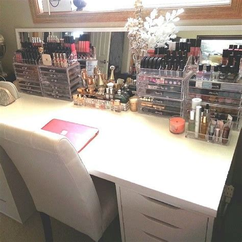 vanity organizer ideas i like the idea of having a vanity computer desk for the