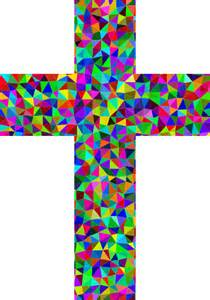 colorful crosses clipart prismatic low poly cross
