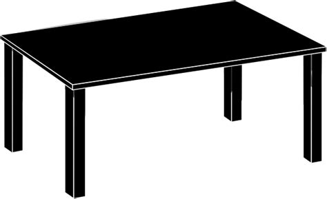Black Table Black Table Clip At Clker Vector Clip