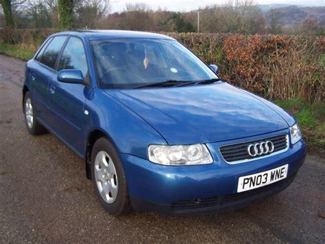 audi a3 ad 2003 03 plate blue audi a3 1 8 se 5 door alloys black