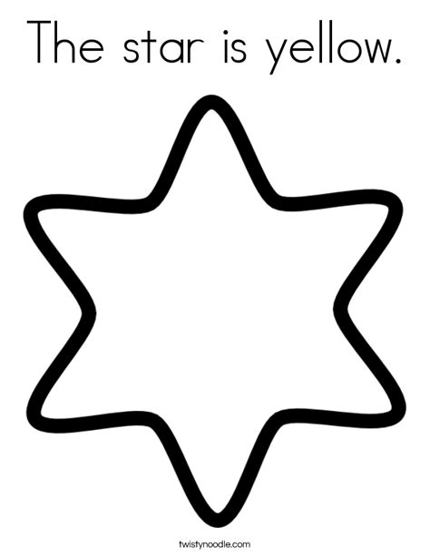 preschool yellow coloring pages the star is yellow coloring page twisty noodle