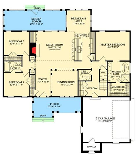 craft room floor plans inviting one story home plan